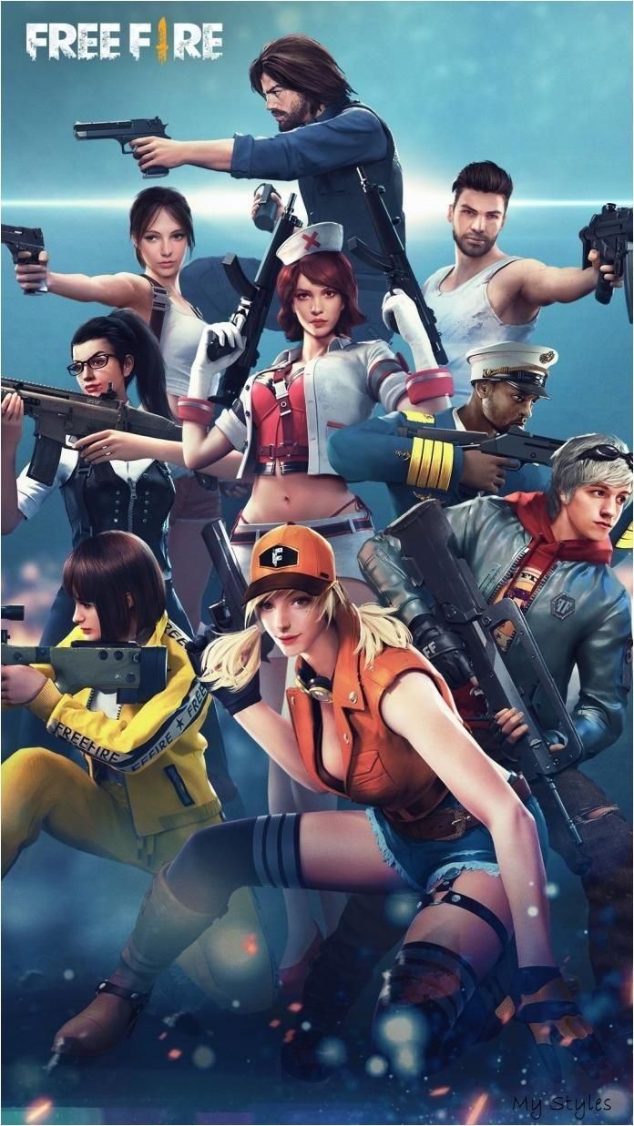 Free Fire Personagens Wallpapers Para Celular E Pc Games Ps4 In 2020 Squad Game Mobile Game Game Download Free