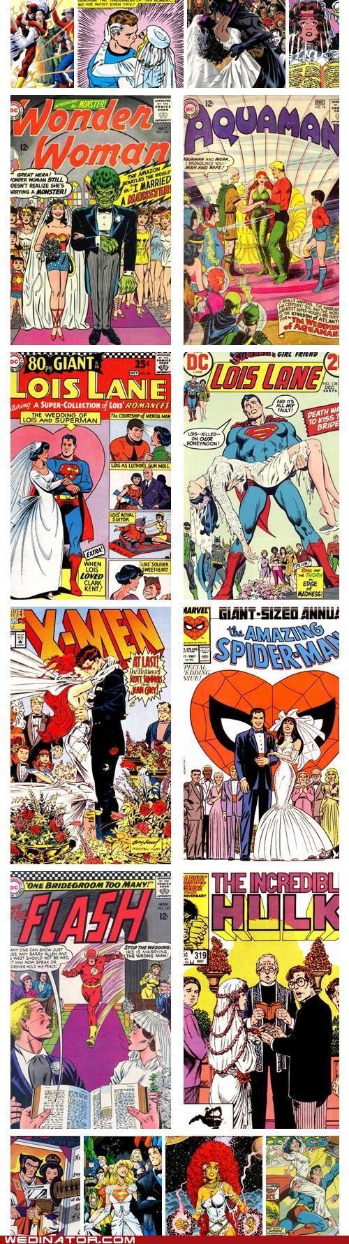 comic book weddings