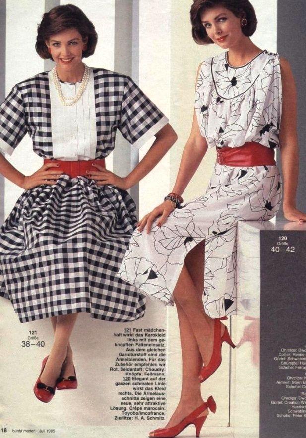 1985, Burda moden | 1980s Fashion | 80s fashion, Fashion ...