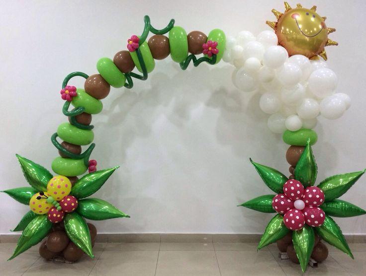 Arco hecho con globos - Arch made with balloons