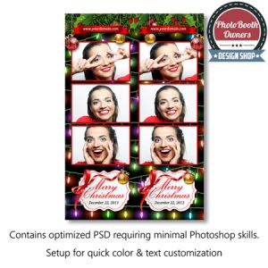 holiday lights photo booth templates strips