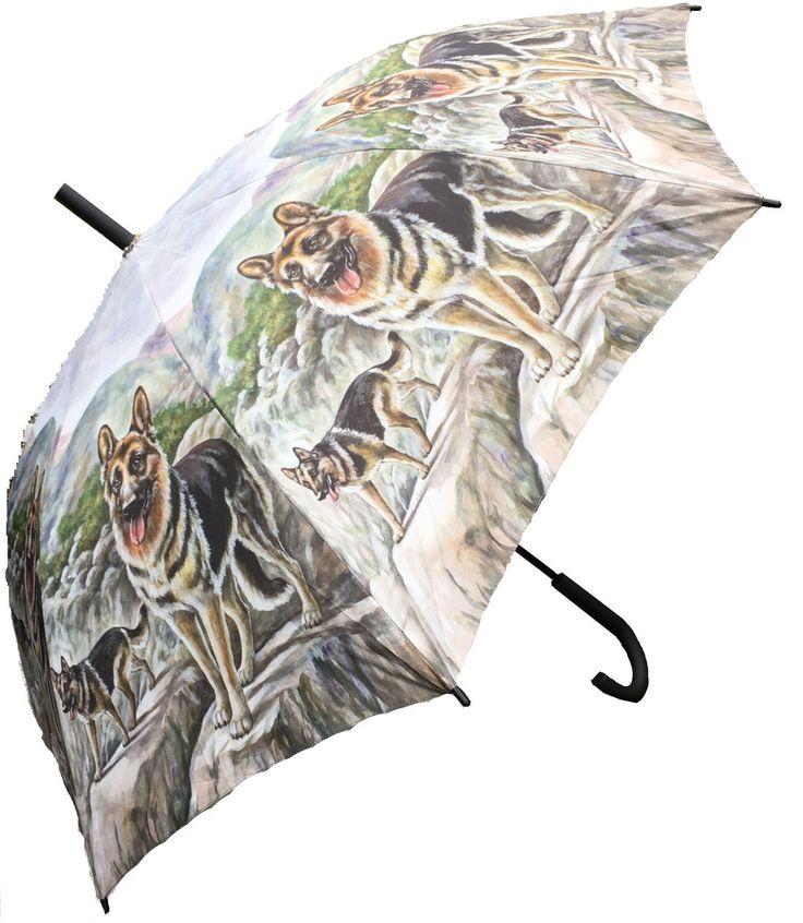 Cherry Tree Country Clothing - German Shepherd Dog Umbrella, £19.95 (http://www.cherrytreecountryclothing.com/german-shepherd-dog-umbrella/)