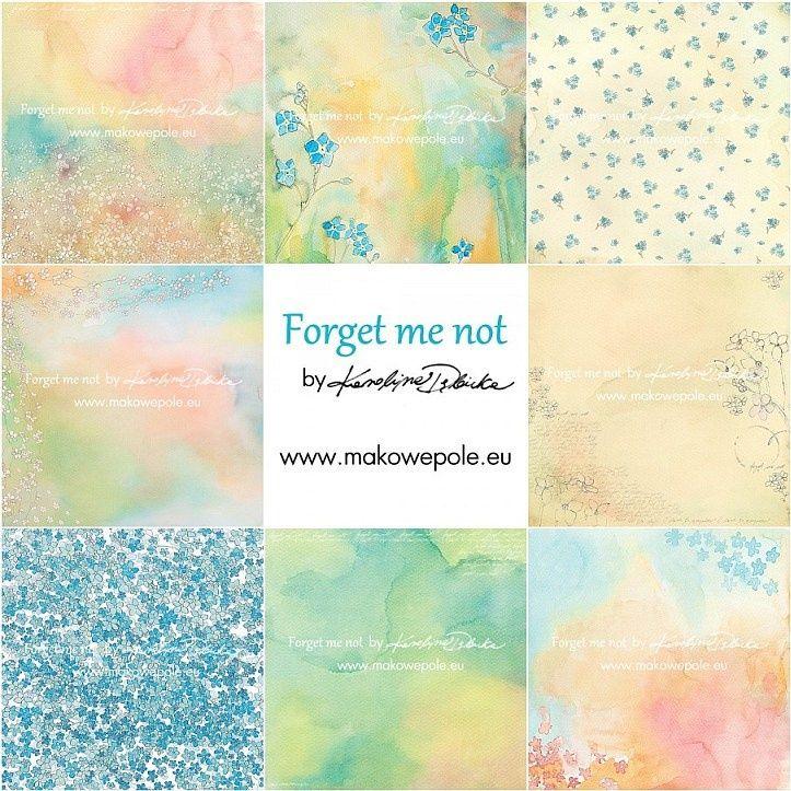 Kolekcja Forget me not (4 papiery) :: makowepole.eu