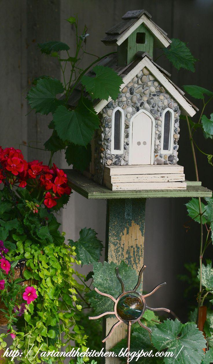 Window bird house plans - Stone Church Birdhouse