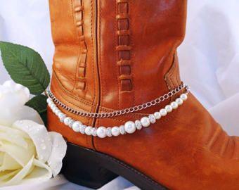 De arranque nupcial perla y diamantes de imitación pulsera, pulsera de arranque nupcial, boda arranque bling vaquera, Rhinestone y tobilleras de arranque perla, joyería de arranque