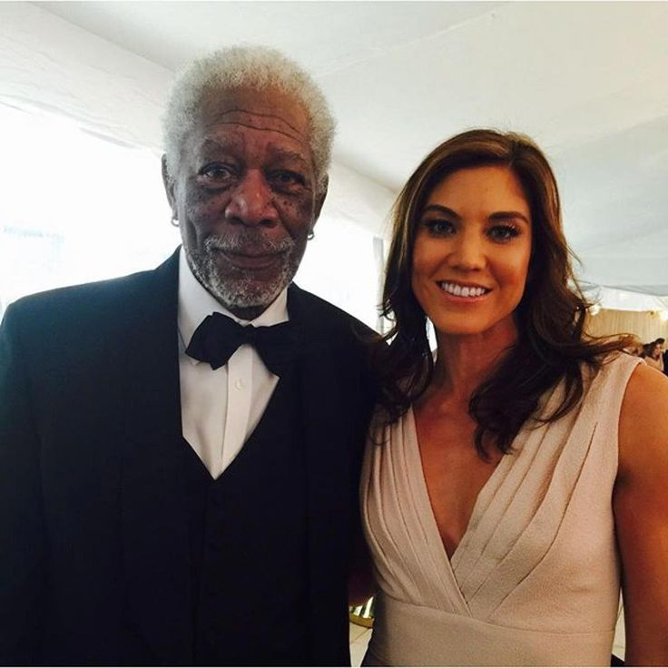 So...Morgan Freeman #WHCD    hope solo