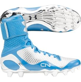 Achieve all of your goals this season in the Cam Newton. A UA CLUTCHFIT™ upper engulfs every nook and cranny of the foot for an enhanced feel, fit and support while a molded 4D foam footbed reduces cleat pressure. The Under Armour® C1N MC football cleat has a UA PlasmaX plate with chrome finish and V56 technology in the forefoot helps to limit toe hyperextension and provide optimal range of motion and traction.