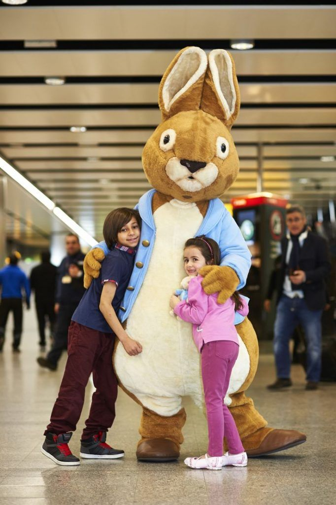 Custom Peter Rabbit Mascot Costumes Christmas Birthday Party Womens Mens Mascots Suit Fancy Dress Carnival Outfit Adult Size