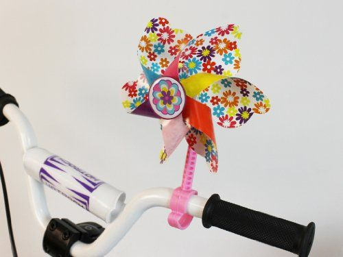 Bike Handlebar Pinwheel - Spinning Flower Pinwheel for Kid's Bicycle - Snaps on for Easy Attachment http://coolbike.us/product/bike-handlebar-pinwheel-spinning-flower-pinwheel-for-kids-bicycle-snaps-on-for-easy-attachment/