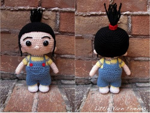 """Free pattern for """"Lil' Agnes (Despicable Me)'...so cute!"""