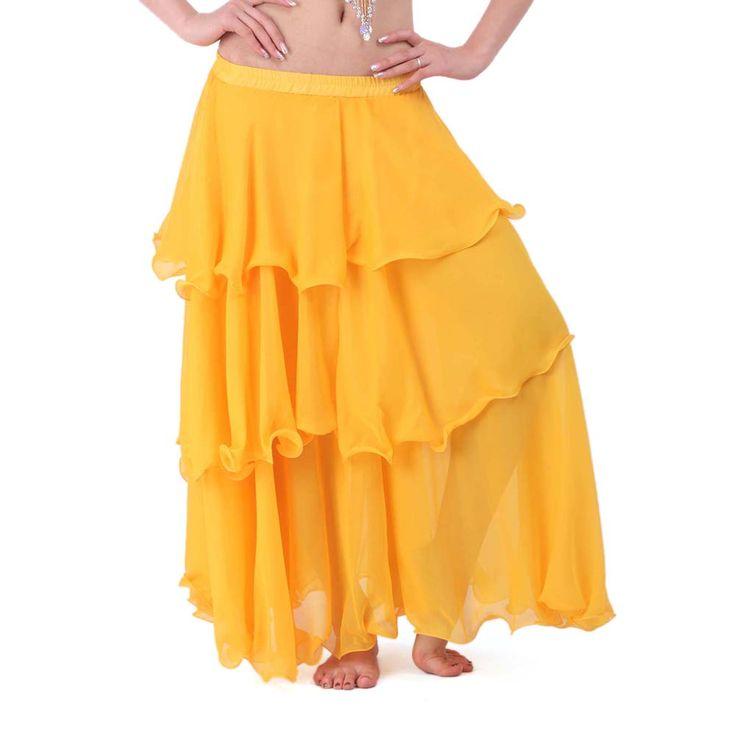 Opentip.com: BellyLady Belly Dance Tribal Skirt Chiffon Hemming Long Maxi Skirt, Gift Idea