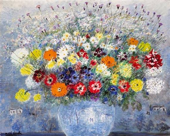 Michele Cascella - A still life with flowers