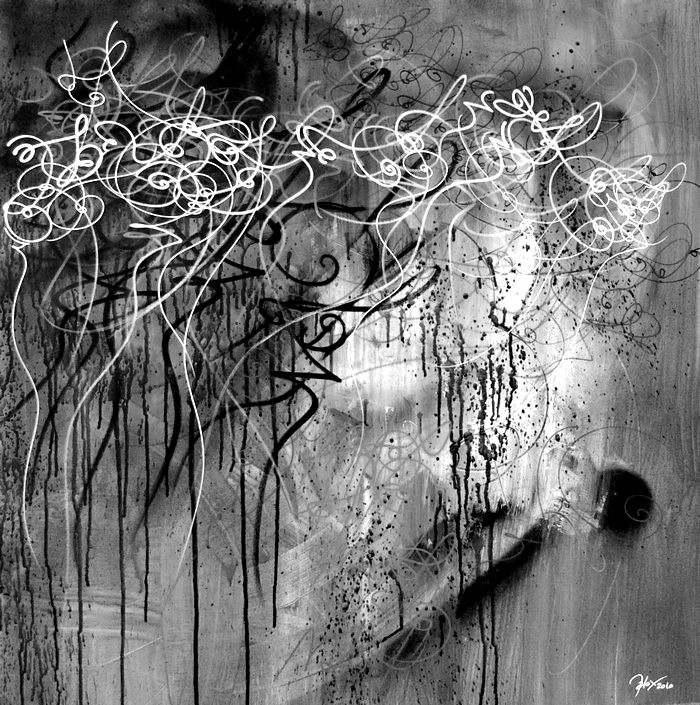 abstract calligraphy by Nuno de Matos // www.matox.fr