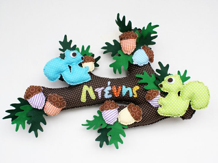squirrel gone nut!!!!  made from fabric. For kids room https://www.facebook.com/lavitaebellacrafts