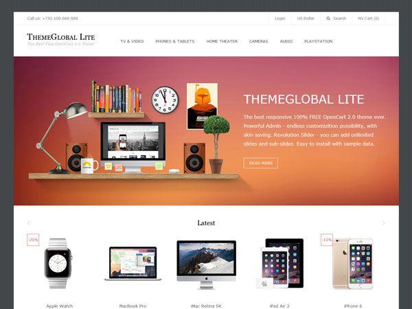 ThemeGlobal Lite OpenCart Theme