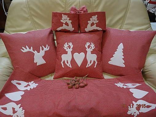 Škandinávske vianoce II-obrus,vankúš,košík,oriešky,,,