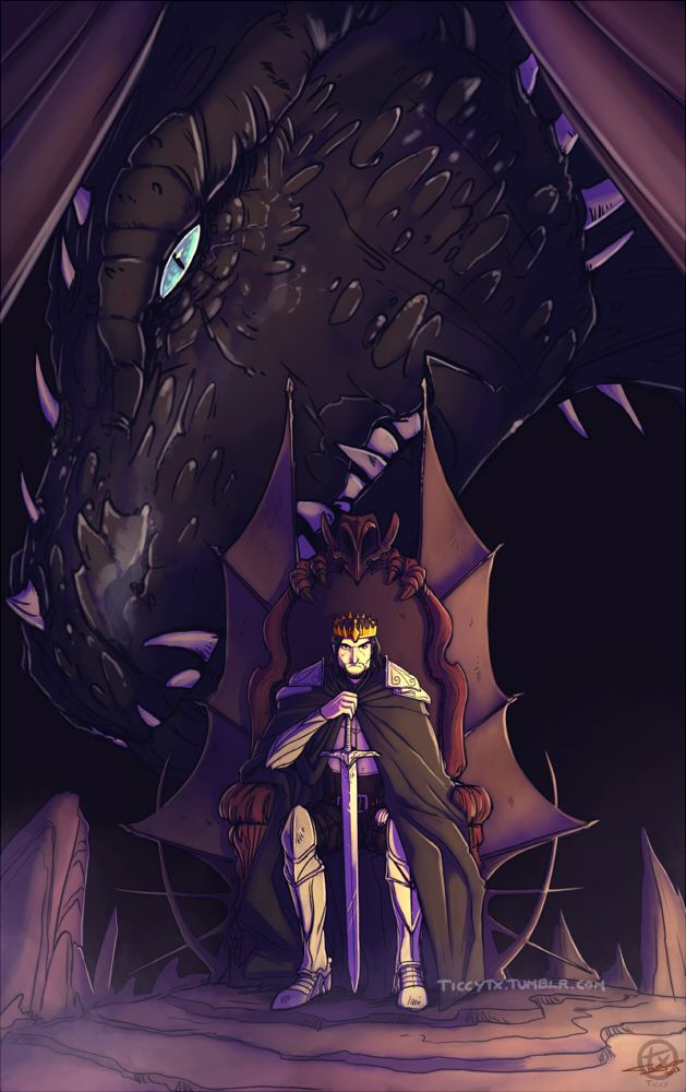 The King and The Dragon by Ticcy on deviantART - jus sayin, shruikan was a lot bigger than that.