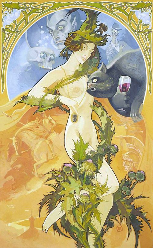 Маргарита и Бегемот. Иллюстрации к «Мастеру и Маргарите» Павла Оринянского.