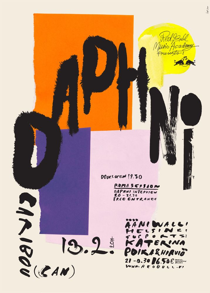 lindaelviiraportfolio:  Poster'Daphni'Live Nation (FI)