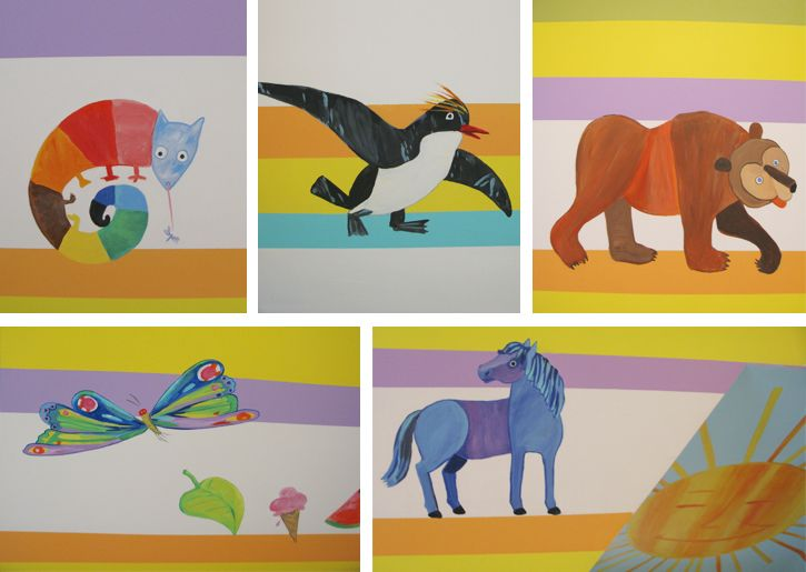 17 best images about cheeky monkey home on pinterest for Eric carle mural