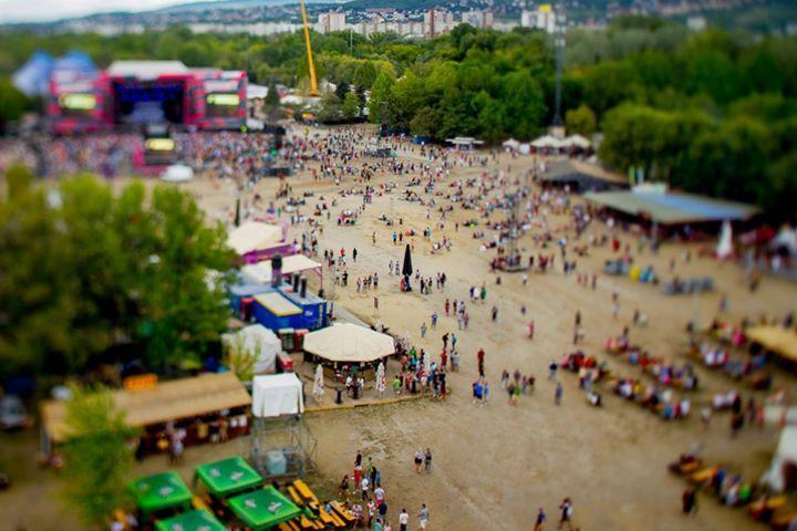 Festival de Sziget efeito miniatura
