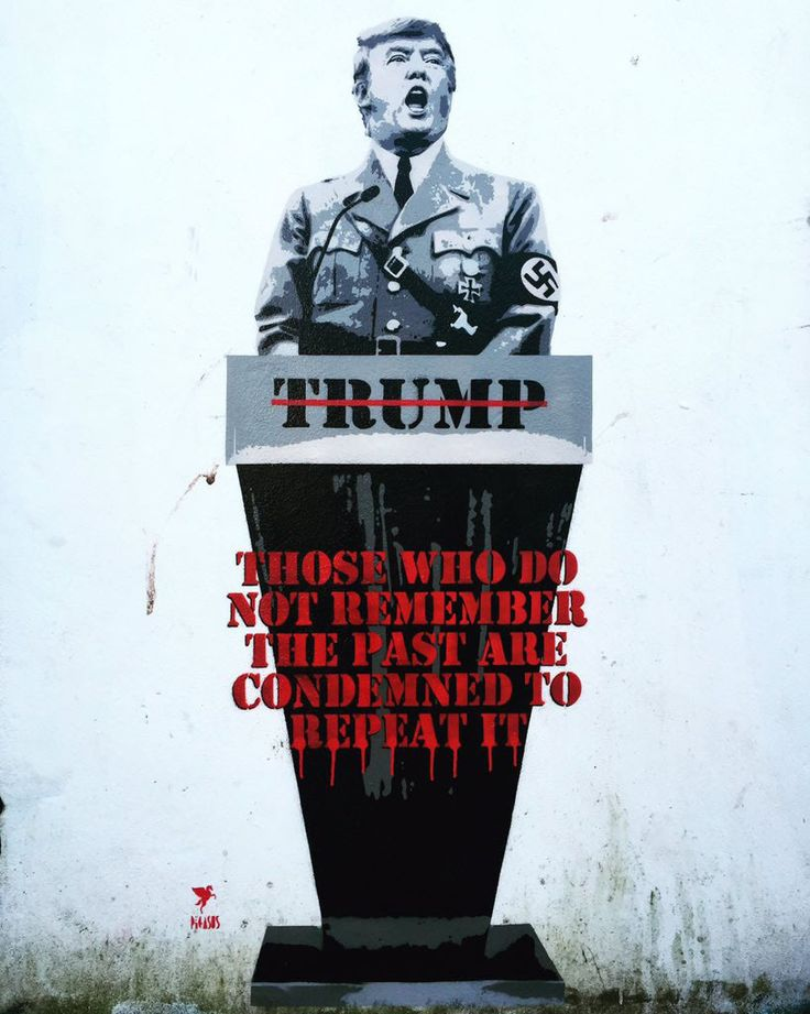 A street artist Pegasus has painted Donald Trump as a Nazi on the wall of a pub in Bristol, UK.