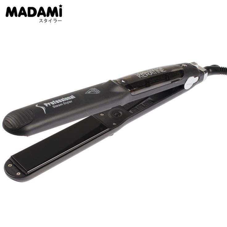 10PCS Wholesale Price Professional Steam Hair Straightener MCH Heater Tourmaline Ceramic Steam Fast Heating Vapor Flat Iron