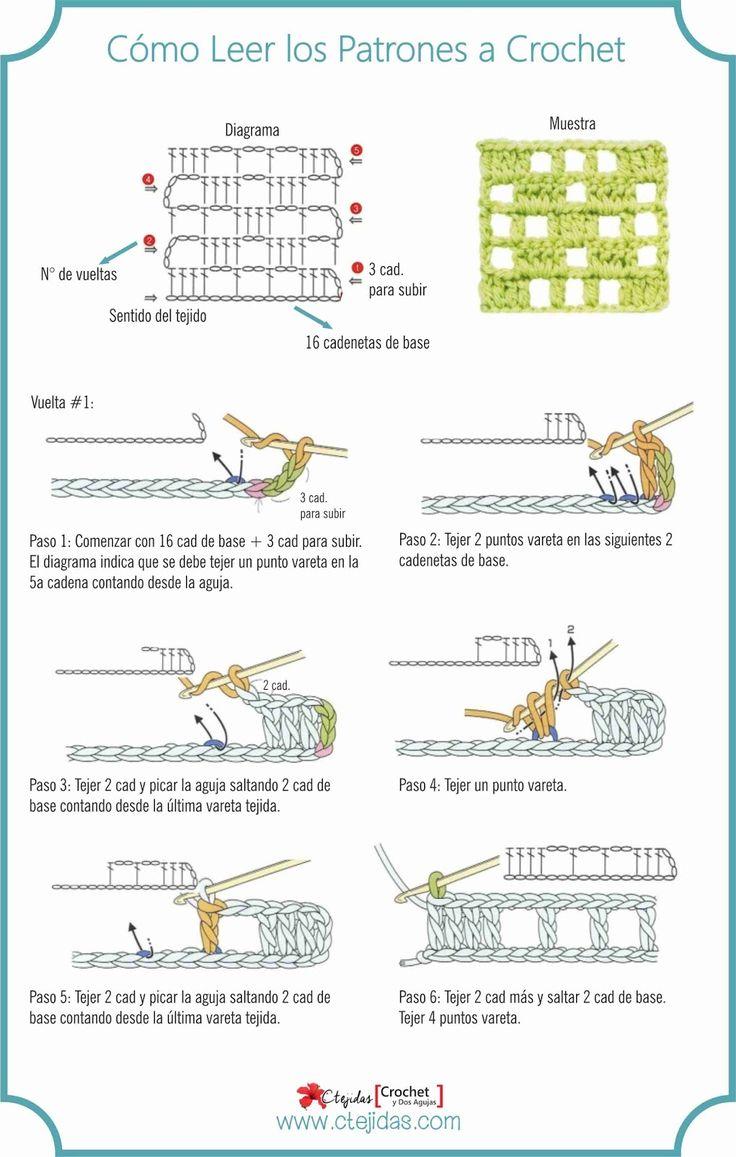 Mejores 66 imágenes de Curso de Crochet en Pinterest | Curso de ...