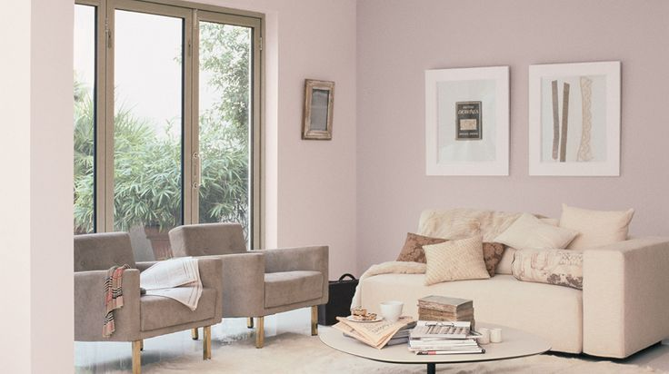 This is the stunning and luxurious Mellow Mocha from Dulux... I love it so much. This is perfect for a restful neutral interior, it would look great with minky and dove grey accents too. The colour changes dramatically through the day, sometimes its very pale lilac, sometimes a very pale Dusty Damson, sometimes grey/lilac... bliss