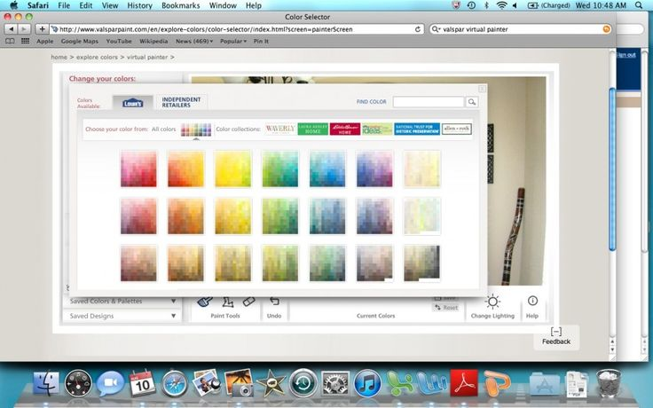 Simple Look in Easy Use virtual room painter http://www.jambic.com/efficient-functional-virtual-room-painter/