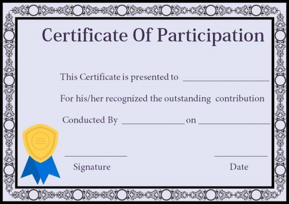 Certificate Of Participation In Workshop Templates Certificate Of Participation Template Certificate Templates Resume Template Free