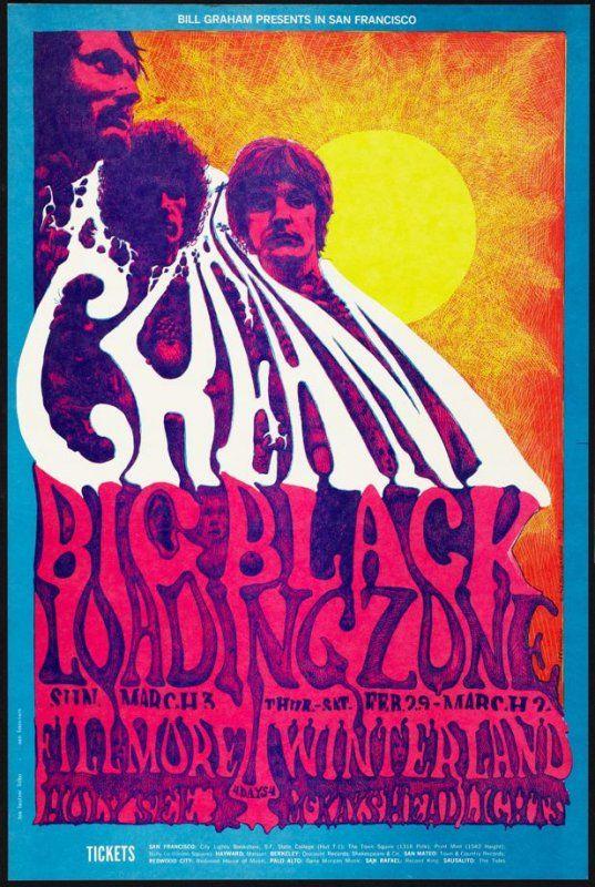 Cream, Big Black, Loading Zone, March 3, Fillmore Auditorium, February 29 - March 2, Winterland, Lee Conklin, 1968