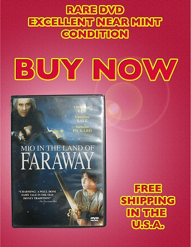 $89.99 Mio in the Land of Faraway, DVD, Nick Pickard, Christian Bale, Timothy Bottoms