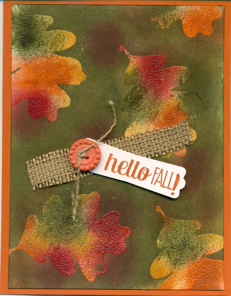 cased from Andrea: http://savvyhandmadecards.blogspot.com/2014/08/fall-emerging-color-card-for-paper.html Check out her site for the instructions. All Stampin Up supplies.