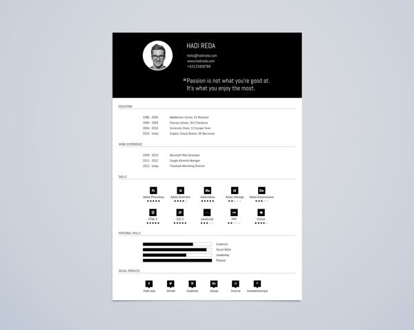 33 best resume template images on pinterest business cards cv resume template din a4 free psd on behance pronofoot35fo Images