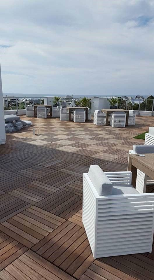 Ipe Wood Deck Tiles On HandyDecku0027s Pedestal System Were The Ideal Solution  For This Tropical,