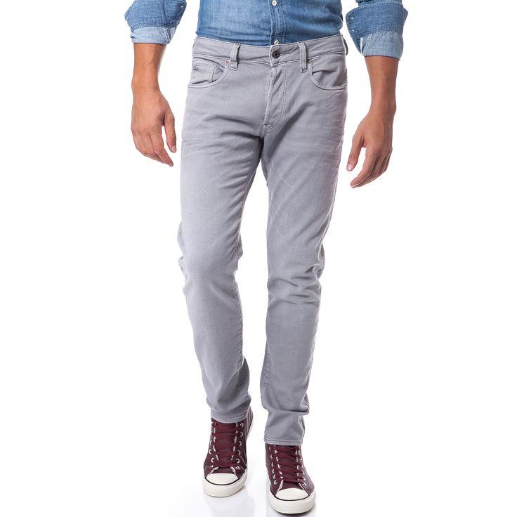 G-STAR RAW - Ανδρικό παντελόνι G-Star Raw 3301 γκρι | παντελονια τζιν ανδρικα προσφορες, προσφορες τζιν, τζιν G-STAR RAW φθηνα, τζιν παντελονια ανδρικα G-STAR RAW