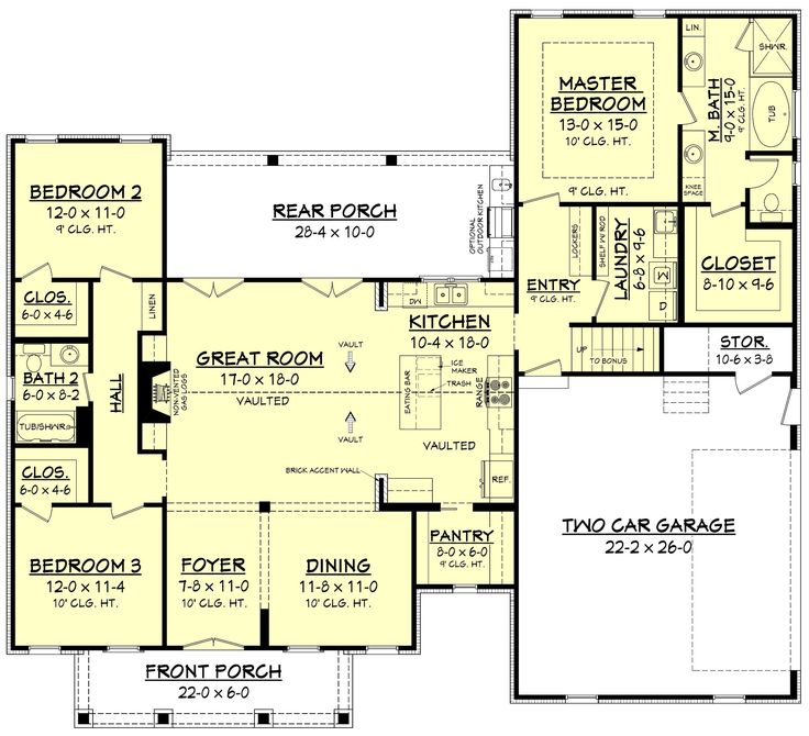 Amazing 3 Bedroom Home Design With Features Galore. This Plan Offers 3  Bedrooms Along With