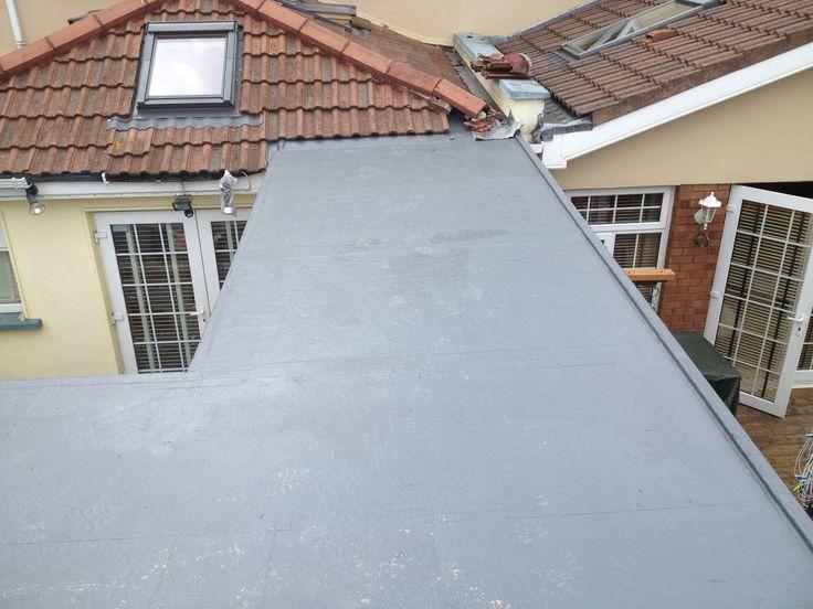 New Fibreglass Flat Roof Construction
