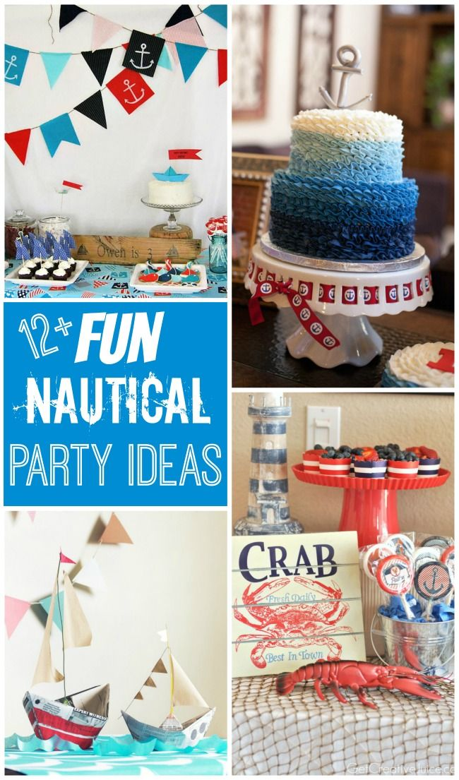 Nautical party ideas for kids!