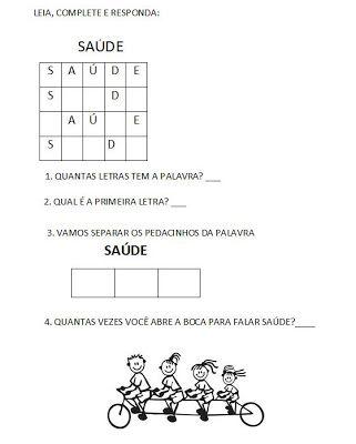 Alfabetização Adultos - Método Silábico - Atividades de Alfabetização