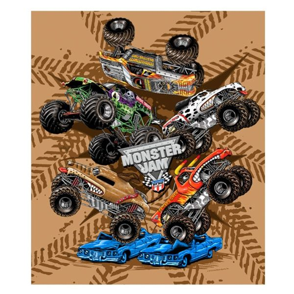 Great Monster Jam Fleece Blanket