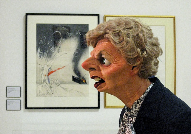 Gallery-goer (Margaret Thatcher by Fluck & Law at 'Rude Britannia' exhibition at Tate London by Brian Sibley, via Flickr