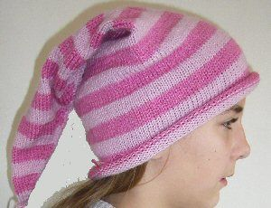Tricot Le bonnet de lutin   Tricot, Tuto bonnet tricot ...