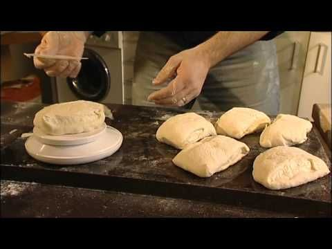 """Slap & fold"" for higher hydration dough - Richard Bertinet making bread (DVD from the book DOUGH) - YouTube"