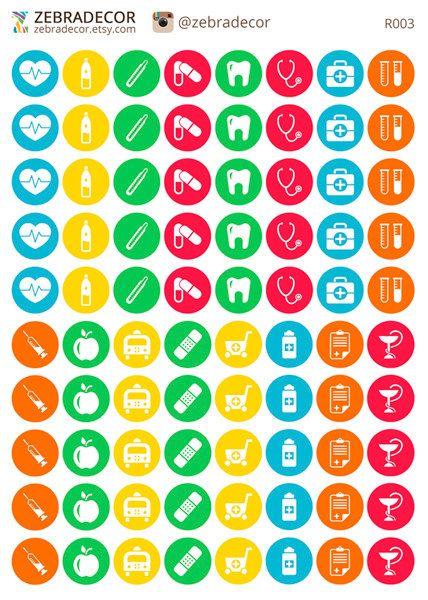 Planner Stickers Doctor Health Stickers: heart от ZebraDecor