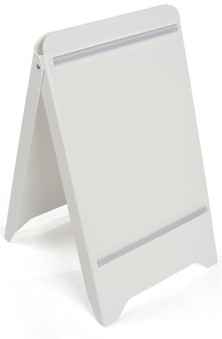 """19"""" x 32"""" A-Frame Sidewalk Sign w/ Poster Snap Rails, Double Sided - White"""