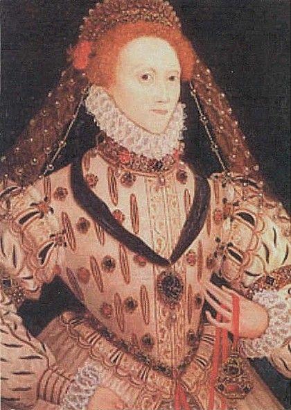 ELIZABETH I OF ENGLAND (1533–1603), last TUDOR monarch over England reigned 1558–1603 ~