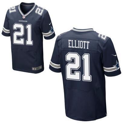 Men's Dallas Cowboys #21 Ezekiel Elliott Nike Navy Blue Elite 2016 Draft Pick Jersey