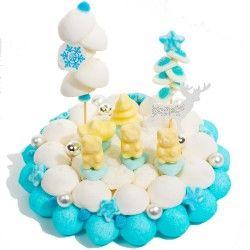 Gateau de bonbons Les Oursons de Noël